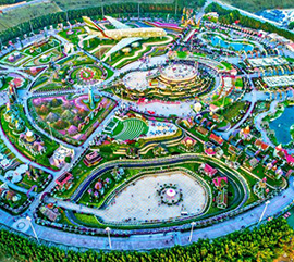 The largest flower garden in the world